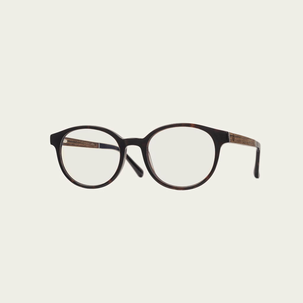 Clear specs fitted with our BlueBlock lenses. Filter out harmful excess blue light which can cause eye strain, headaches and poor sleep. The SOHO Forever Havanas dark brown tortoise frame and is composed of durable Italian Mazzucchelli bio-acetate with ha