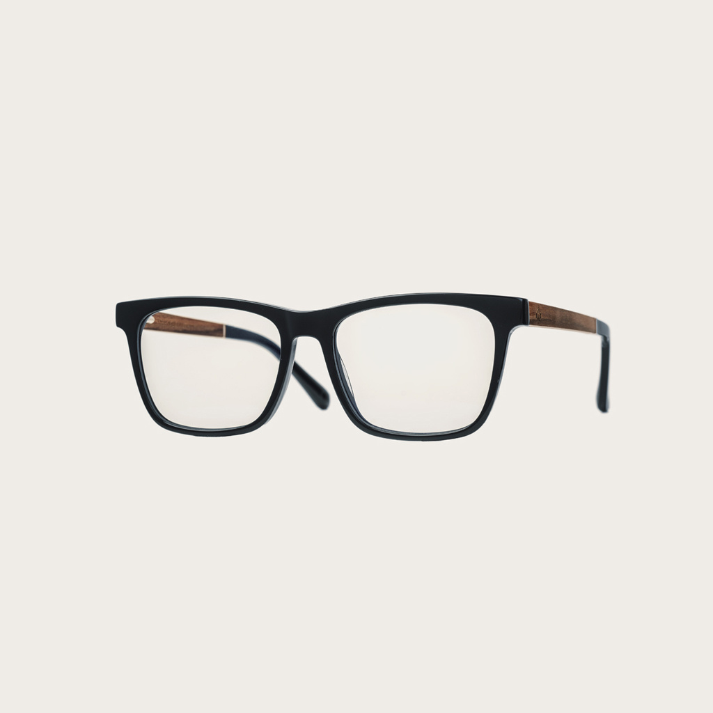 Clear specs fitted with our BlueBlock lenses. Filter out harmful excess blue light which can cause eye strain, headaches and poor sleep. The BROOKLYN Black black frame and is composed of durable Italian Mazzucchelli bio-acetate with hand-finished natural