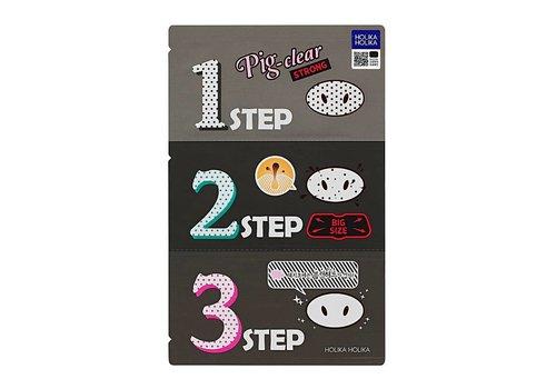 Holika Holika Pig Clear Blackhead 3-Step Kit Strong