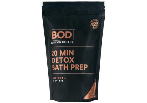 BOD Body on Demand 20 min Charcoal Bath Salts and Detox