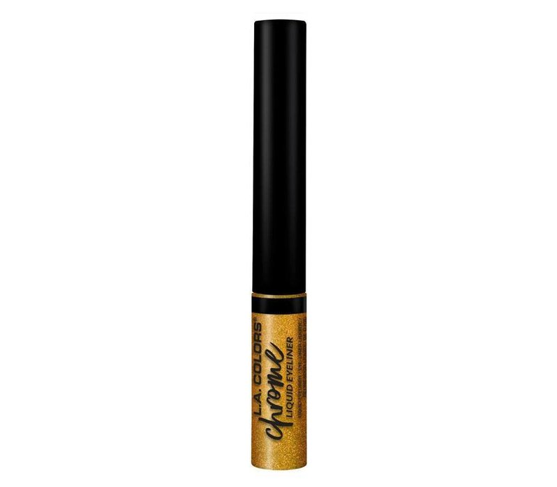 LA Colors Liquid Eyeliner Chrome Liquid Gold