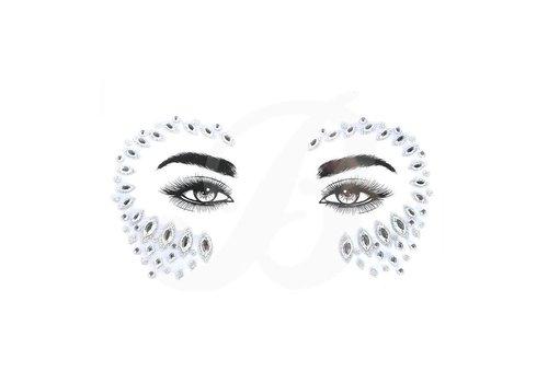 Festival Face Face Gems Pasha Silver Glitter