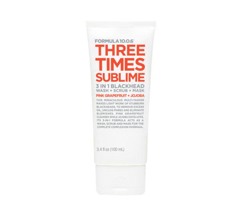 Formula 10.0.6 Three Times Sublime Wash Scrub Mask