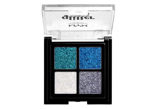 NYX Professional Make Up Glitter Goals Cream Quad Palette Glacier