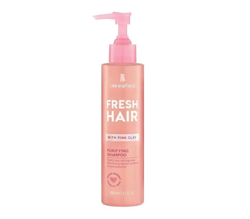 Lee Stafford Fresh Hair Pink Clay Purifying Shampoo