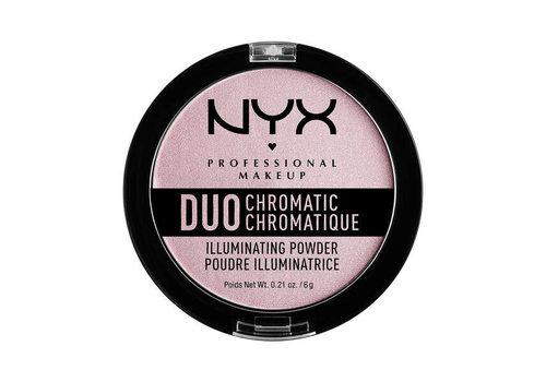 NYX Professional Make Up Duo Chromatic Illuminating Powder Lavender Steel