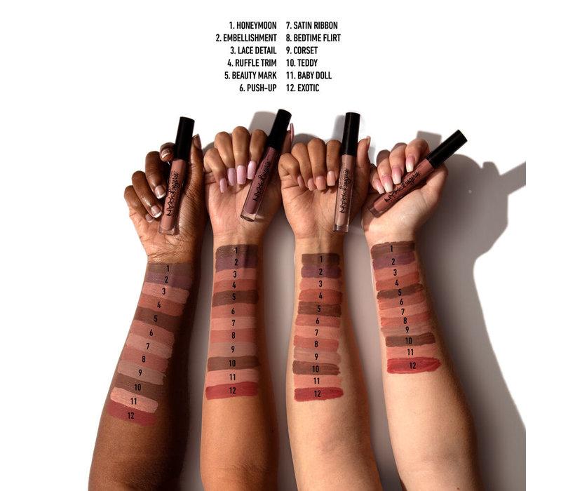 NYX Cosmetics Lip Lingerie Liquid Lipstick Beauty Mark
