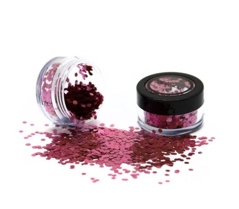PaintGlow Bio Degradable Chunky Loose Glitter Shiffon Rose
