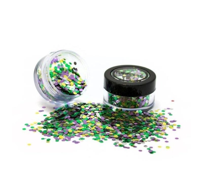PaintGlow Bio Degradable Blends Chunky Loose Glitter Rain Forest