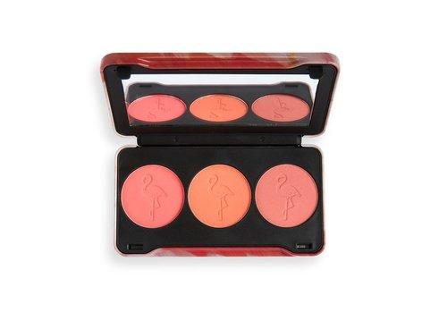 Makeup Revolution Flamingo Mini Trio Blush Oh My Blush Palette
