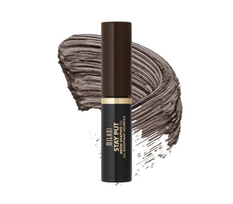 Milani Stay Put Brow Shaping Gel Dark Brown