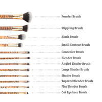Boozyshop 12 pc. Brush Set Tiger