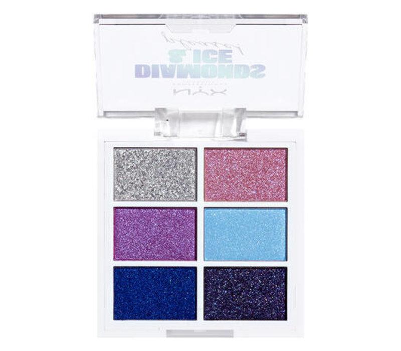 NYX Professional Makeup Diamonds & Ice, Please Eyeshadow Palette Sky Gems