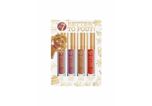 W7 Cosmetics Better to Pout! Liquid Lipstick Set