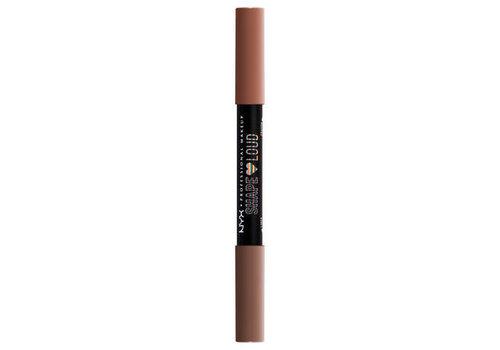 NYX Professional Makeup Shape Loud Matte Duo Lip Liner Fashion Darlings