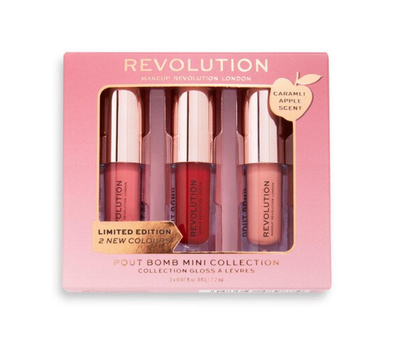 Makeup Revolution Caramel Apple Mini Pout Bomb Set