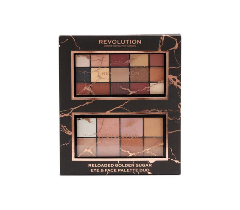 Makeup Revolution Reloaded Golden Sugar Eye & Face Palette Duo