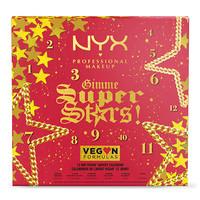 NYX Professional Makeup Holidays 2021 Gimme Super Stars! 12 Day Vegan Advent Calendar