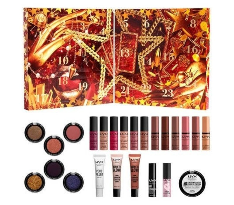 NYX Professional Makeup Holidays 2021 Gimme Super Stars! 24 Day Holiday Countdown