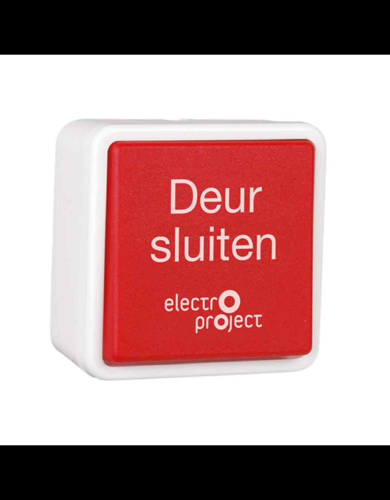 Hand-ontgrendeldrukknop opbouw/inbouw tekst Nederlands IP20