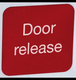 """HEKATRON Inleg tekst :""""Door release"""" voor FSZ per 10 in de engelse taal"""