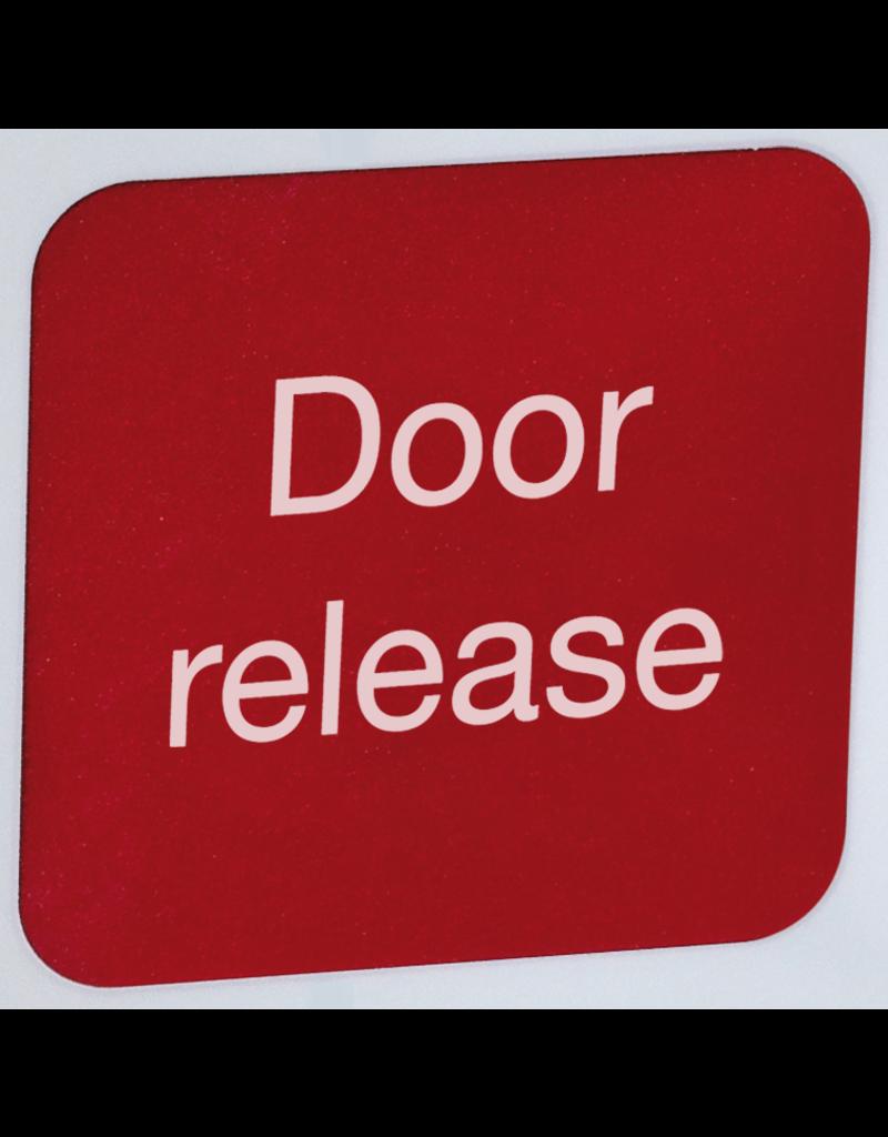 """Inleg tekst :""""Door release"""" voor FSZ per 10 in de engelse taal"""
