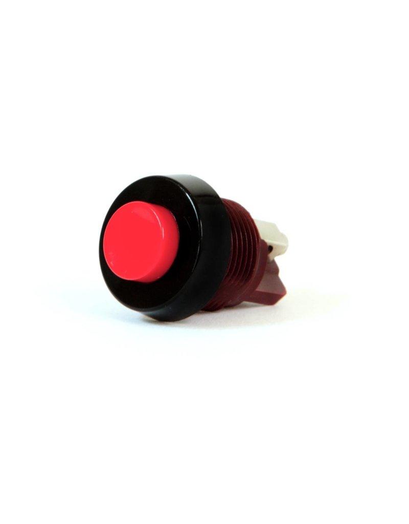 ELECTROPROJECT Drukknop rood  met moer voor deurmagneten