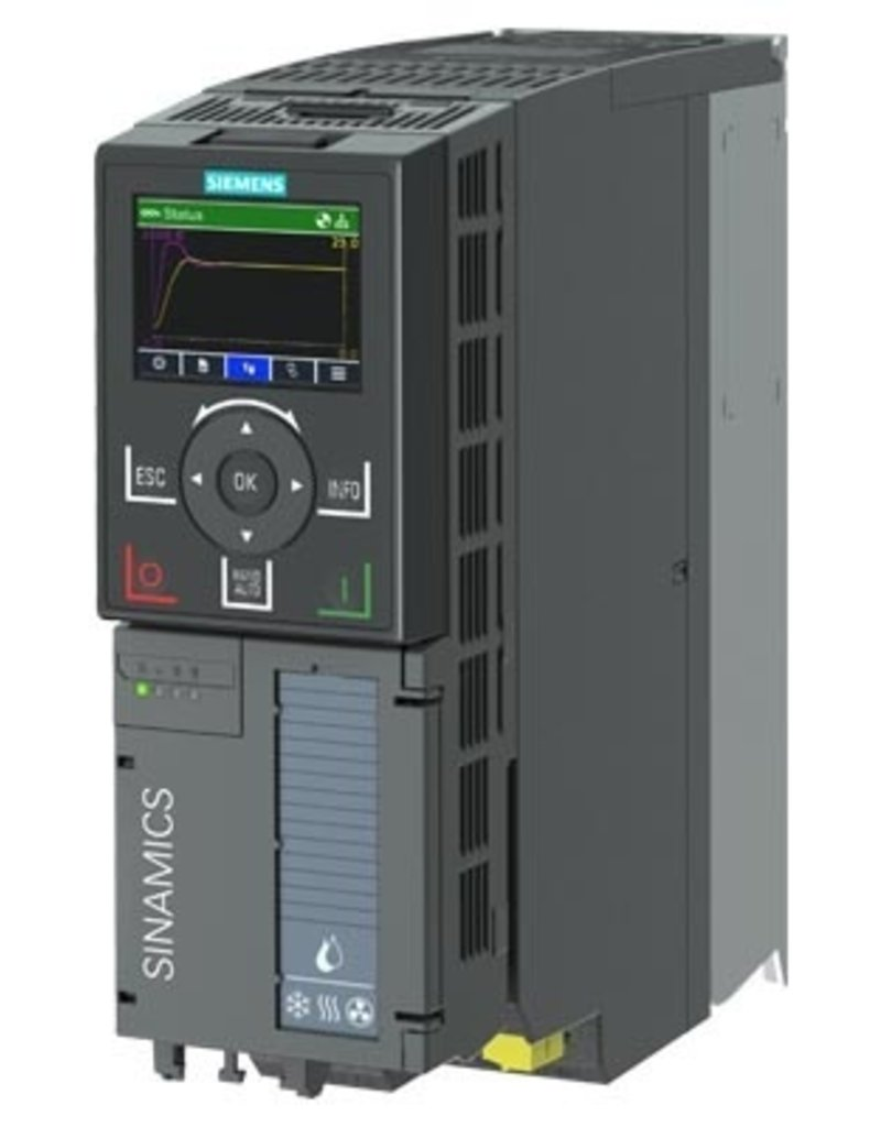 SIEMENS 6SL3220-3YE12-0AP0 1,1kW G120X frequentieregelaar met IOP-2 grafisch kleuren display en RFI filterklasse C2