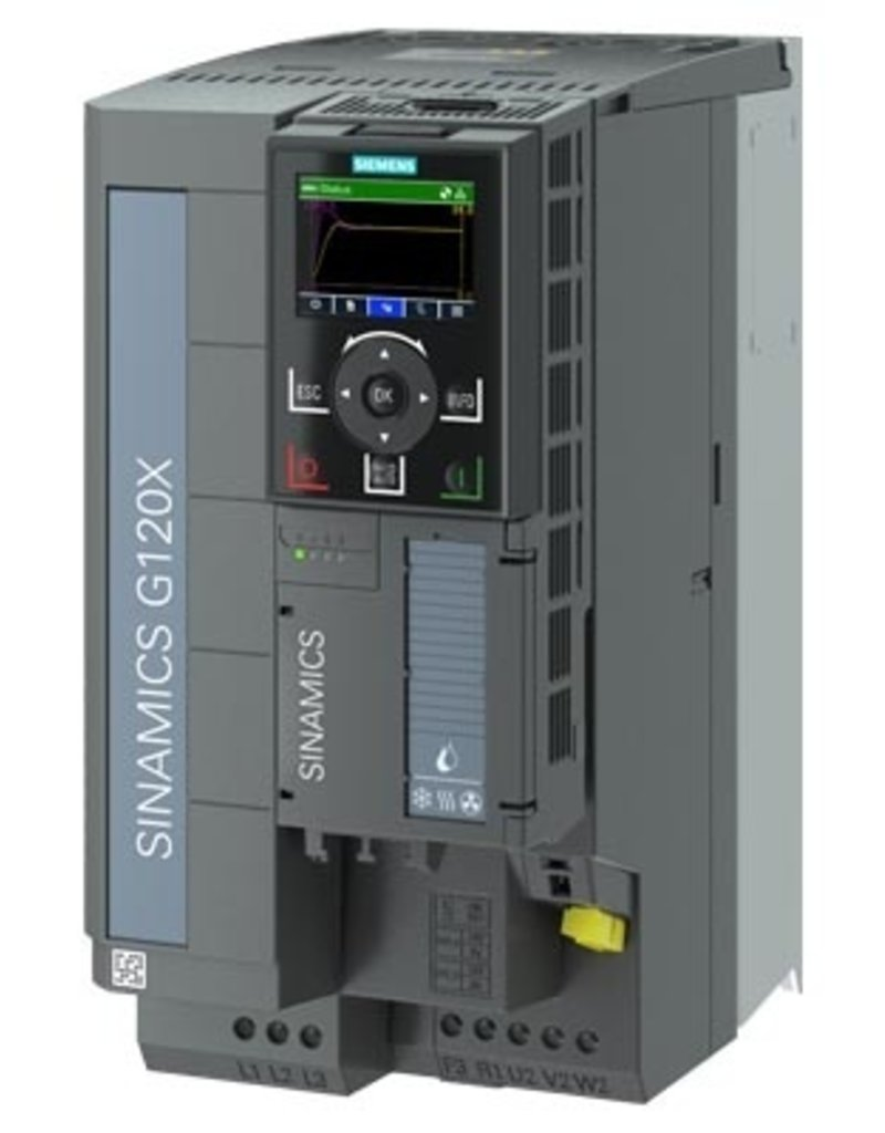 SIEMENS 6SL3220-3YE28-0AP0   15kW G120X frequentieregelaar met IOP-2 grafisch kleuren display en RFI filterklasse C2