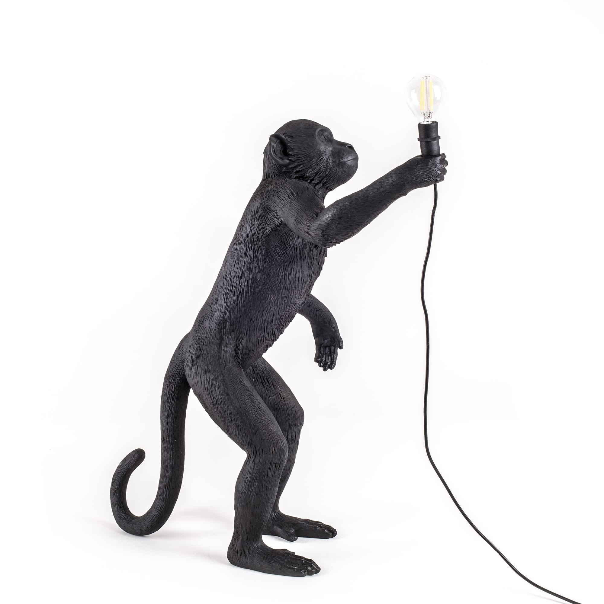 Seletti Seletti Tafellamp Standing Monkey Zwart Outdoor