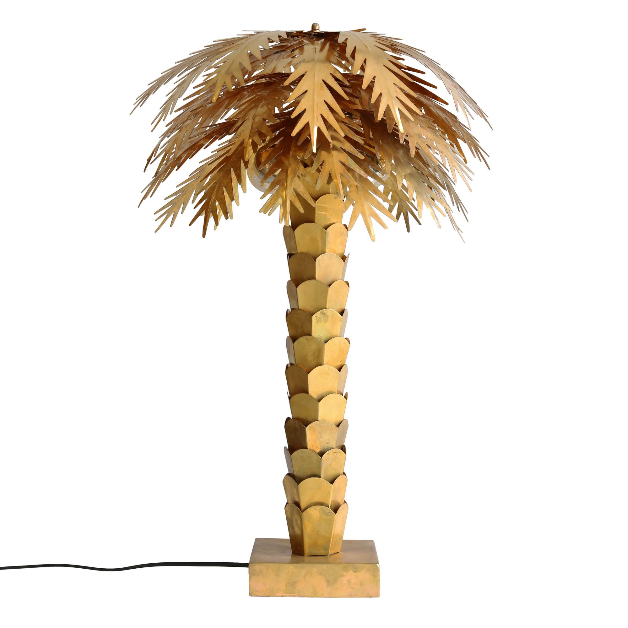 HKliving HKliving Tafellamp Palm Messing