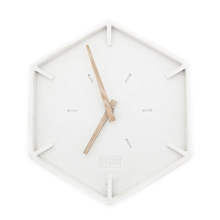 By-Boo By-Boo Wandklok Justin Time Hexagon