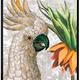 VanillaFly VanillaFly Poster Parrot Fritillaria 30x40