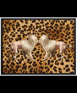 VanillaFly Poster Leopard dogs 20x25