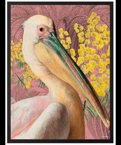 VanillaFly Poster Pelican Pink 20x25