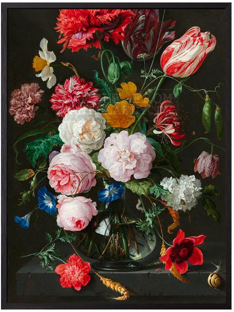 VanillaFly VanillaFly Poster Springflowers 30x40