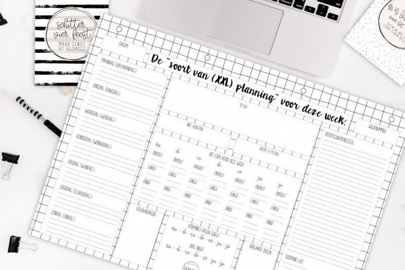 "ON MY MINT ONMYMINT Weekplanner ""soort van planning"" XXL"