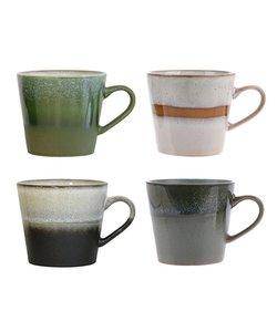 HKliving Mok 70's Cappuccino (set van 4)