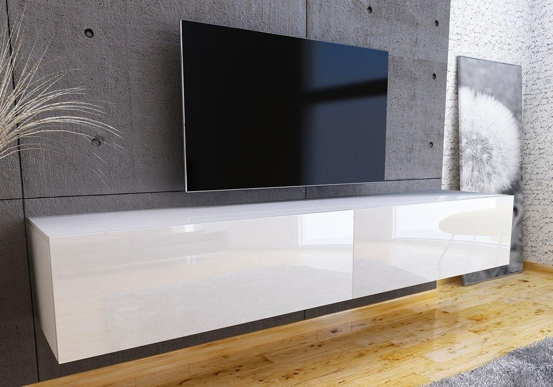 Tv Meubel Zwart Hoogglans.Nasmaak Zwevend Tv Meubel Galicia Hoogglans Nasmaak Com