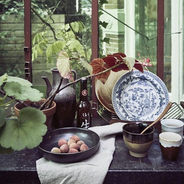 HKliving HKliving Dinerbord Handgeschilderd Kyoto Keramiek