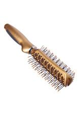 Galante \Haarborstel tweezijdig, plastic, 23 cm, gold metallic, 623-8658