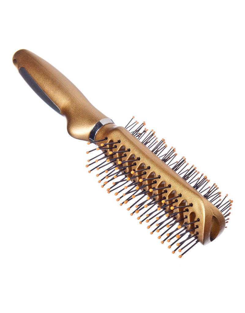 \Haarborstel tweezijdig, plastic, 23 cm, gold metallic, 623-8658
