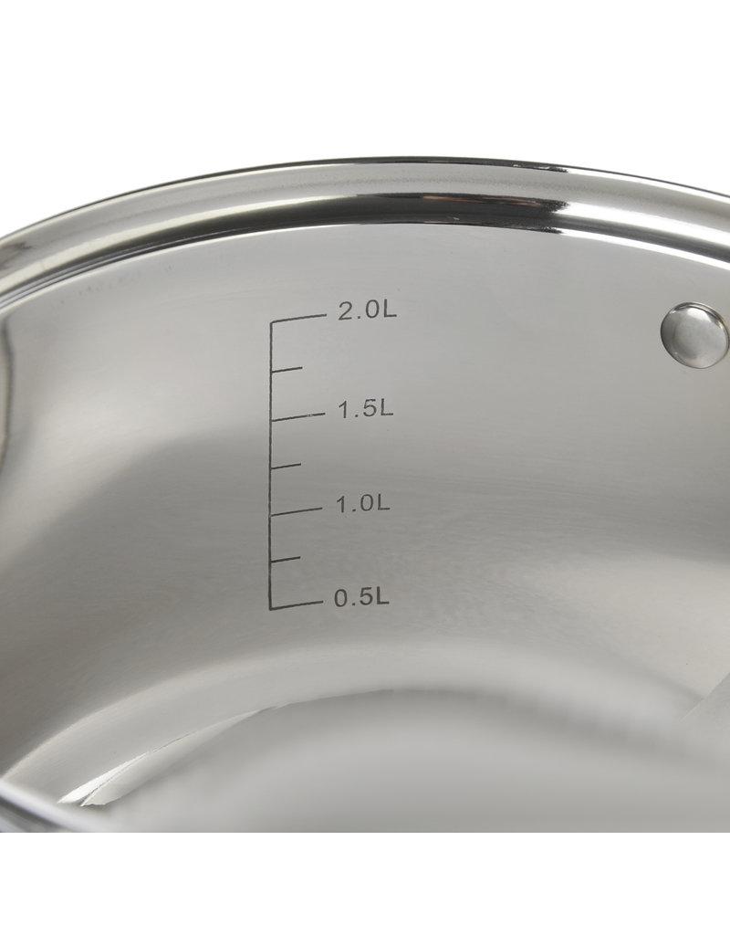 Vetta Vetta - RVS Kookpan 2.6L met glazen deksel