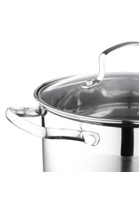 Vetta Vetta - RVS Kookpan 3.5Lmet glazen deksel