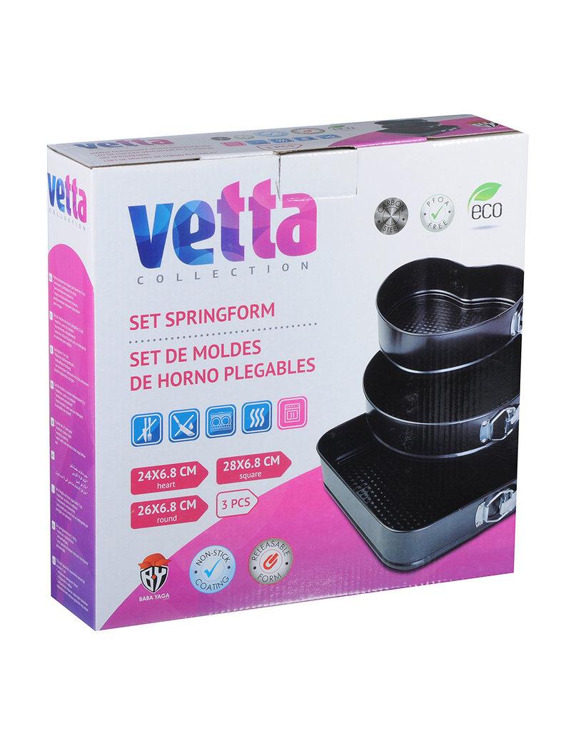 Vetta Vetta - Set van 3 springvormen - Hart, cirkel en vierkant