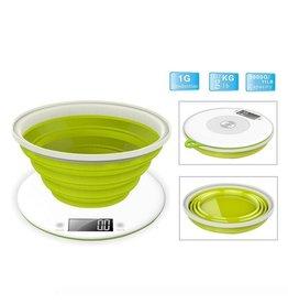 Efbe-Schott Efbe-Schott EKS1004 Digitale Keukenweegschaal + Inklapbare Maatschaal Wit/Groen