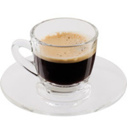 Scanpart Scanpart Espresso Kop en Schotel 7cl 2 Stuks