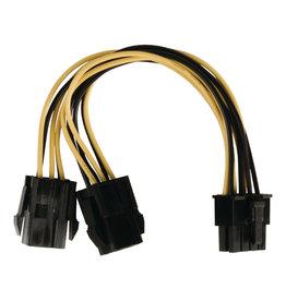 Valueline Valueline VLCP74415V015 Interne Stroom Splitterkabel Eps 8-pins - 2x Pci Express 0,15 M Veelkleurig