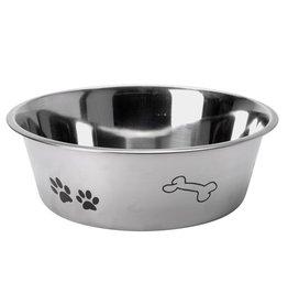 Basic Hondenvoerbak met Print 24 cm RVS