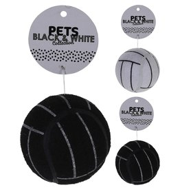 Basic Pets Black and White Collection Honden Speelgoed-Bal 7.5 cm Assorti